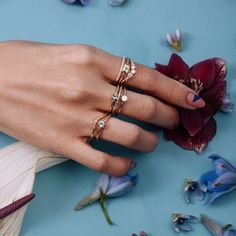 Aquamarine Plate Stacking Ring - March  Marrow Fine Jewelry |