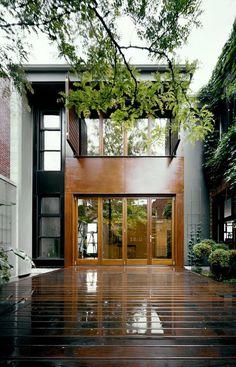 Windows, wooden deck
