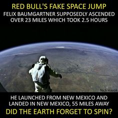 Coriolis or not? Scientists vs. ball earth believers... one says the atmosphere spins with the earth, the other says no... Just stick with non spinning flat earth and this space jump will make sense.