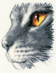 Majestic Cat Cross Stitch Kit - £23.50 on Past Impressions   Vervaco