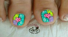 Cute Pedicures, Acrylic Nails At Home, Pedicure Nail Art, Crazy Nails, Toe Nails, Erika, Diana, Nail Designs, Nail Ideas