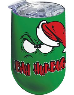 Bah Humbug Wine Tumbler by Spoontiques Wine Tumblers, Feel Good, Fun Stuff, Make It Yourself, Holiday, How To Make, Fun Things, Vacations, Holidays