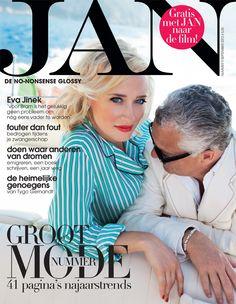 Eva Jinek en Bram Moszkowicz | Cover JAN Magazine 9-2012