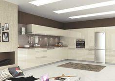 Çizilmez Acrylic Kapak 1303 Krem Renk  #mutfak #mutfakmodelleri #acrylic #acrylickapak #acrylicmutfak #kitchen #kitchendesign