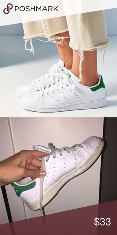 Adidas Stan Smiths decently worn but an amazing staple. theyre also leather so they clean up easily Adidas Shoes Sneakers