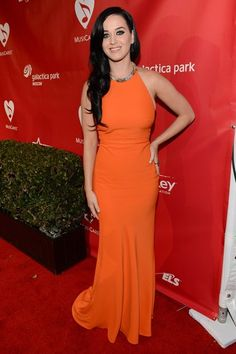 Katy Perry during Grammys weekend. Pretty in orange. Click for more pictures