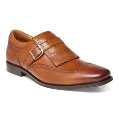 Men's Vionic Harrison Monk Strap - Dark Tan Leather Wing Tips Most Comfortable Dress Shoes, Cordovan Shoes, Mens Fashion Shoes, Shoes Men, Fashion Suits, Men's Shoes, Men's Fashion, Monk Strap Shoes, Dark Tan