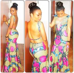 Beautiful African Print Dress!- ha! Werk!