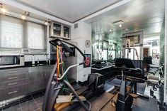 The well-equipped and bright gym of 222 E. Chestnut #13.