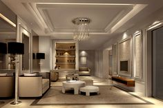 Lobby Interior, Interior Design Living Room, Living Room Designs, Living Rooms, False Ceiling Living Room, Ceiling Design Living Room, Villa Design, House Design, Traditional Chinese House