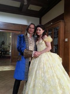 "Belle and Rumplestiltskin, Once Upon a Time. When they danced to ""A Tale As Old As Time"" on the show, it was so beautiful. <3 It was just like the Disney movie. :)"