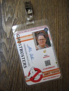 Ghostbusters Abby Yates I.D. Badge by AutismTeddy on Etsy