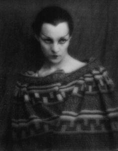 Man Ray portrait of Romanian actress, Genica Athanasiou Paris, c.1921