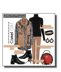 """""""#camelcoat"""" by onesweetthing ❤ liked on Polyvore featuring Joseph, Diane Von Furstenberg, STELLA McCARTNEY, TIBI, MCM, Vita Fede, Chico's and Avon"""