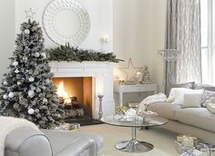 Create your own grown-up grotto with a timeless combination of silver and white
