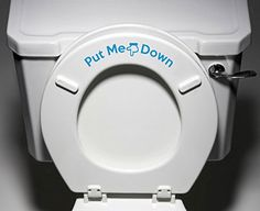 Put Me Down  Toilet Seat Bathroom  Humor Funny Reminder Potty Training Vinyl Sticker Decal Copyright  2014 YaddaYadda Design Co 1 LIGHT BLUE * Read more reviews of the product by visiting the link on the image.