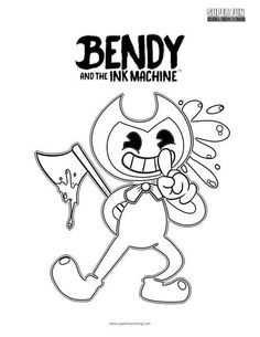 Bendy And The Ink Machine Coloring Page Super Fun Coloring Pages