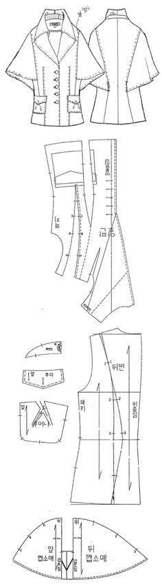 캡(Cape) 라인 소매 재킷