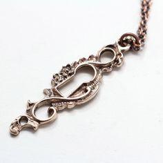 Keyhole Necklace Bronze design inspiration on Fab.