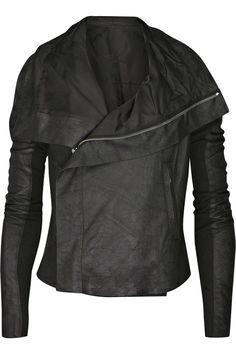 Rick Owens Blister leather biker jacket NET-A-PORTER.COM