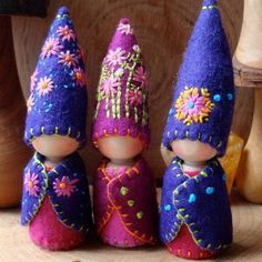 Browse unique items from paintingpixie on Etsy, a global marketplace of handmade, vintage and creative goods. Waldorf Crafts, Waldorf Dolls, Felt Fairy, Clothespin Dolls, Little Doll, Wooden Dolls, Fairy Dolls, Felt Dolls, Felt Ornaments