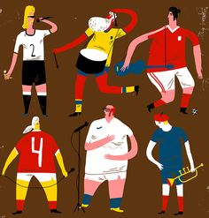 OIVIND HOVLAND ILLUSTRATION: EURO FOOTBALL SONGS