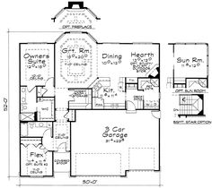 push out the back wall. make laundry larger and eliminate the hearth room. Shift over kitchen and make great room bigger