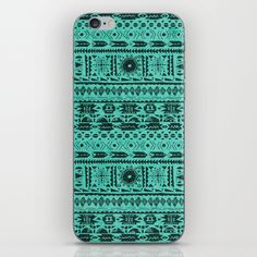 Turquoise Tribal Pattern iPhone & iPod Skin