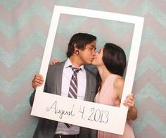 Easy DIY Tutorial for Photo Booth Prop for Wedding | Giant Polaroid Picture Frame by DIY Ready at http://diyready.com/20-diy-photo-booth-ideas/