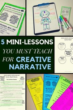 5 Mini-Lessons You MUST Teach for Creative Narrative writing: character development, setting...