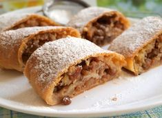 Drawn strudel with apples NejRecept. Czech Recipes, Ethnic Recipes, Strudel, Apple Pie, Snack Recipes, Tacos, Cheesecake, Bread, Apples
