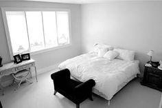 Black and white bedrooms ideas: Romantic sense