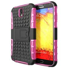 Hyperion Samsung Galaxy Note 3 Explorer Hybrid Case / Cover (Compatible with Verizon Samsung Note 3 / At&t Samsung Galaxy Note III / Sprint Samsung Note 3 / ALL International Samsung Note 3 SM-N900 Models) **Hyperion Retail Packaging** [2 Year Warranty] (Pink/Black)