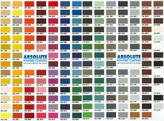 Powder Coating RAL Colors, South Florida, Powder Coat Color charts,Broward County, Ft. Lauderdale, Palm beach county