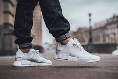 "On Foot: adidas NMD_R1 PRIMEKNIT ""Triple White"" - EU Kicks: Sneaker Magazine"