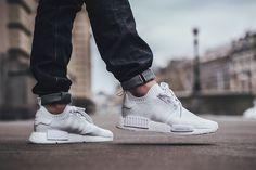 "On Foot: adidas NMD_R1 PRIMEKNIT ""Triple White"" - EU Kicks: Sneaker Magazine"
