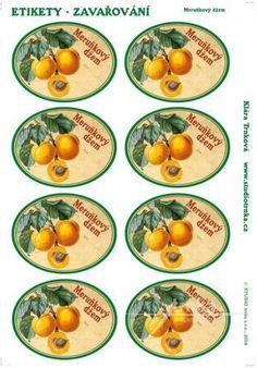 Samolepicí etikety, zavařování, meruňkový džem