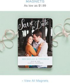 MAGNETS for save the dates! yes!!