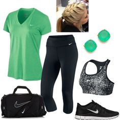 Workout Outfit. But what's with all this nike everywhere?!  Not a nike fan...