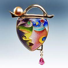 Enamel 2 by Mary and Jon lee Enamel Jewelry, Metal Jewelry, Jewelry Art, Fine Jewelry, Jon Lee, Art Nouveau Jewelry, Glass Ceramic, Modern Jewelry, December 4