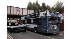 A double-decker bus crashes into a railway bridge in Rochdale, shearing off the roof and injuring 17 people. First Bus, Rochdale, Double Decker Bus, Bus Coach, London Bus, Busses, Coaches, Seventeen, Manchester