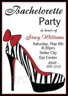 Shoe Party Invitation Ideas   Shoe Bachelorette Party Invitation Girls by ...   Bachelorette Ideas ...