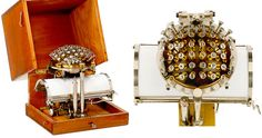 The Writing Ball, invented in 1865 by the Rasmus Malling-Hansen, first patented and entered production in 1870, making it the first commercially produced typewriter.