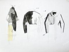 Fashion Sketchbook - jacket design drawings; fashion illustration; fashion design process; fashion portfolio // Connie Blackaller