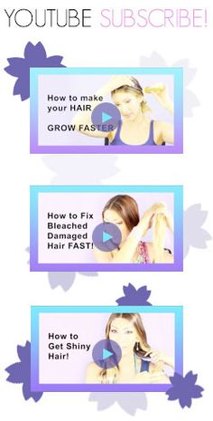 how to grow your hair thick and fast! approximately an inch a month!