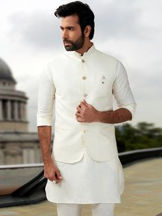 Waistcoat Set for Men - Let you look smart and dashing in waistcoat set. Buy Online Men's Waistcoat Set for Festive Season in India at Best Prices at Fashion. Nehru Jackets, Chef Jackets, Men's Waistcoat, Wedding Dress Men, Designer Suits For Men, Festival Wear, Mens Suits, Groomsmen, Festive