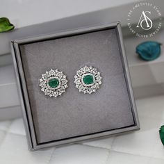 Swaroski Earrings Silver Jewellery Studded With Cubic Zirconia. Silver Earrings Online, Gold Earrings Designs, Jewellery Designs, Silver Jewelry, Diamond Jewellery, Diamond Earrings, Jewellery Sketches, India Jewelry, Ear Rings