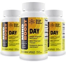 """""""MindBoost™ Day"""" is a dietary supplement that is manufactured by Simple Smart Science in order to help people improve their memory and reduce their risk for future development of Alzheimer's disease and dementia. On this post at DietTalk you will find additional details about this supplement and its main pros and cons - http://www.diettalk.com/mindboost-day-review/"""