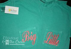 2 Comfort Colors Brand Big/Little Sorority by BoutiqueByTheCreek