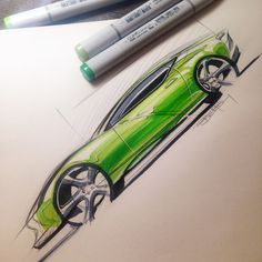 Car sketching with copic markers